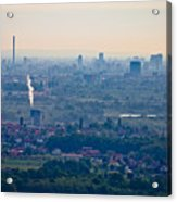 City Of Zagreb Panoramic Aerial View Acrylic Print