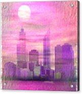 City On Night View Acrylic Print
