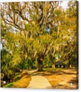 City Park New Orleans - Paint Acrylic Print