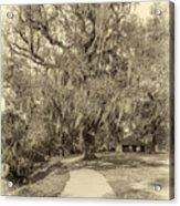 City Park New Orleans - Sepia Acrylic Print