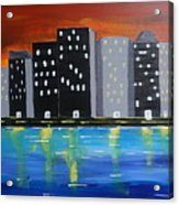 City Scape_night Life Acrylic Print