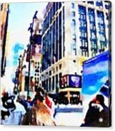 City Shopping Acrylic Print