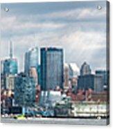 City - Skyline - Hoboken Nj - The Ever Changing Skyline Acrylic Print
