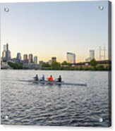 City Skyline - Philadelphia On The Schuylkill River Acrylic Print
