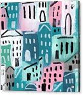 City Stories- Church On The Hill Acrylic Print