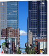 City Street Canyon Acrylic Print