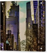City Street Acrylic Print