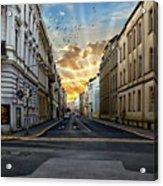 City Street View Acrylic Print