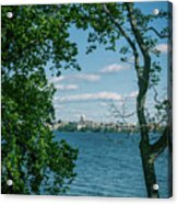 City Through The Trees Acrylic Print