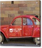 City Tour Car Strasbourg France Acrylic Print