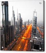 City Veins Dubai Acrylic Print