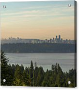 City View Of Vancouver And Burnaby Bc Acrylic Print