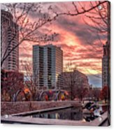 Citygarden Gateway Mall St Louis Mo Dsc01485 Acrylic Print