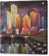 Citylights Acrylic Print
