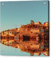 Cityscape For The Beautiful Nubian City Aswan In Egypt At The Golden Hour Of The Sunset Time. Acrylic Print
