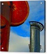 Cityscape Of Frankfurt. Acrylic Print