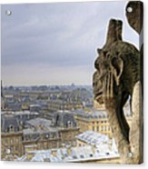 Cityscape From Notre Dame, Paris Acrylic Print by Zens photo