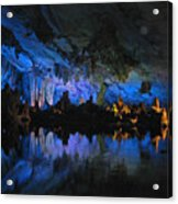 Cityscape In The Cave Acrylic Print