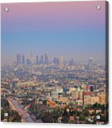 Cityscape Of Los Angeles Acrylic Print