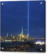 Cityscape Tribute In Lights Nyc Acrylic Print