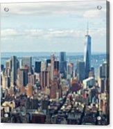 Cityscape View Of Manhattan, New York City. Acrylic Print