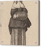 Ciuis Aut Mercatoris Antuerpiensis Vxor Acrylic Print