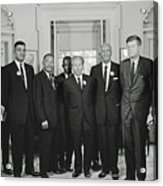 Civil Rights Leaders And President Kennedy 1963 Acrylic Print