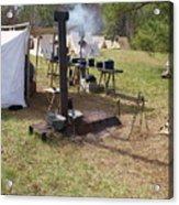 Civil War Camp Stove And Mess Acrylic Print