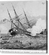 Civil War: Merrimac (1862) Acrylic Print