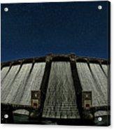 Claerwen Reservoir In Moonlight Acrylic Print