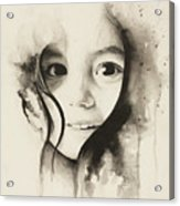 Claire Black And White Acrylic Print