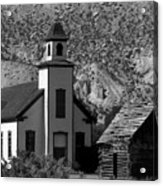 Clapboard Church 1898 Acrylic Print
