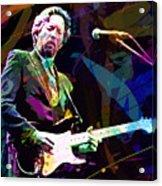 Clapton Live Acrylic Print by David Lloyd Glover