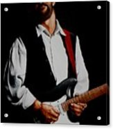 Clapton With Red Strap Acrylic Print