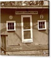 Clara's Sandwich Shop Acrylic Print
