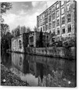 Clarence Mill, Bollington, England Acrylic Print