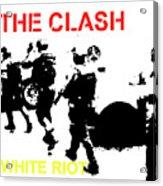 Clash White Riot  Acrylic Print