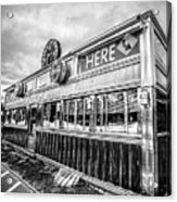 Classic American Diner Black And White Acrylic Print