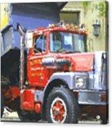 Classic Brockway Dump Truck Acrylic Print
