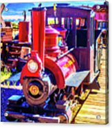 Classic Calico Train Acrylic Print