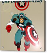 Classic Captain America Acrylic Print by Mista Perez Cartoon Art