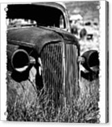 Classic Car Body In Grassy Field Acrylic Print