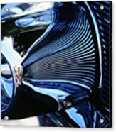Classic Car Chrome Abstract Reflected Grill Acrylic Print