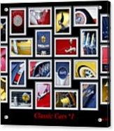 Classic Car Montage Art 1 Acrylic Print