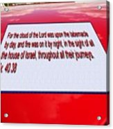 Classic Car With Text Acrylic Print