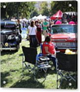 Classic Cars Day Of The Dead II Acrylic Print