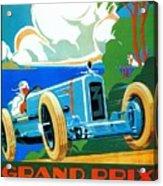 Classic Cars Motor Racing Grand Prix French Riviera 1929  Acrylic Print