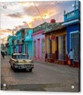 Classic Cuba Cars X1 Acrylic Print