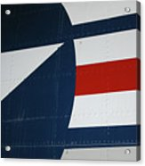 Classic Military Aircraft Abstract- Star 5 Acrylic Print