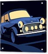 Classic Mini Cooper In Blue Acrylic Print